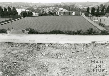 Bowling Green and Bowls Pavilion, Royal Victoria Park, Bath, July 1992