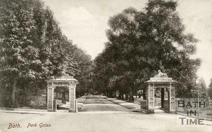 Victoria Park Gates, Bath, c.1903