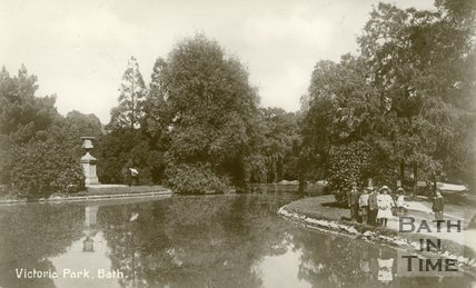 Royal Victoria Park, Bath, The lake, c.1912
