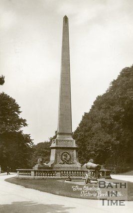 Royal Victoria Park, Bath, Obelisk and Canons, c.1912