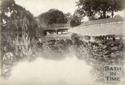 Bridge Over Lake, Royal Victoria Park, Bath, c.1885