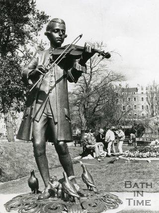 Mozart Statue, Kaposvar Gardens, Parade Gardens, Bath, 1992