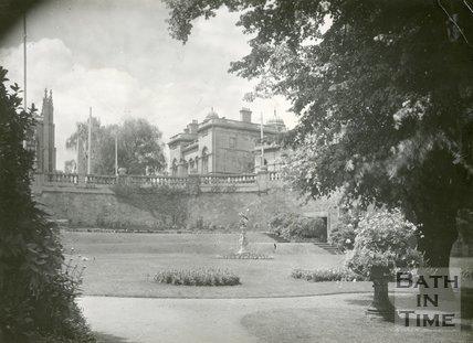 Parade Gardens, Bath, view from gardens, c.1932
