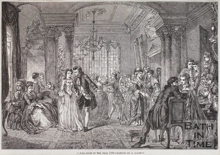 A Ballroom in the year 1700 - Painted by A. Solomon. Bath, c.1850?