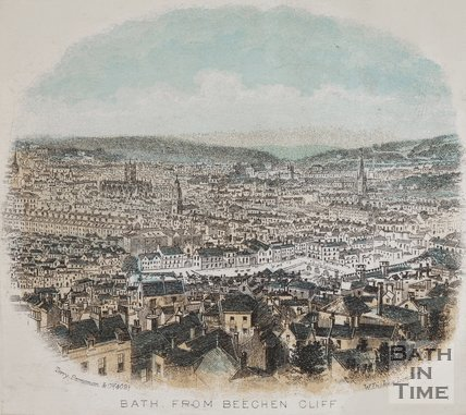 View of Bath, from Beechen Cliff, c.1861?