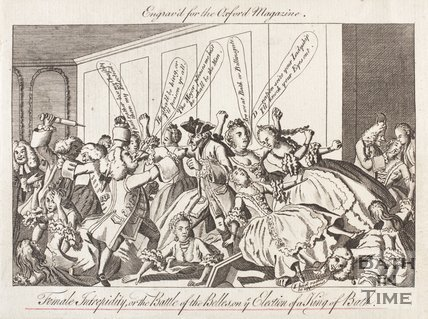 Female Intrepidity, or the Battle of the Belles, on ye Election of a King of Bath, c.1770?