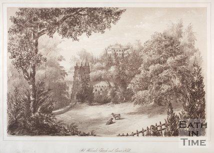 Old Widcombe Church and Crowe Hall, 1881