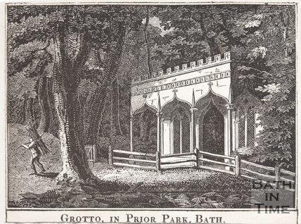 Grotto, in Prior Park, Bath, c.1800?