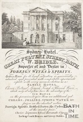 Sydney Hotel, Great Pulteney Street, Bath, c.1827.