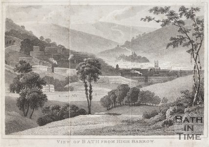 View of Bath from High Barrow, c.1800?