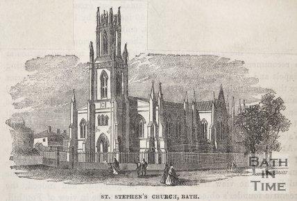 St. Stephen's Church, Bath. 1860.