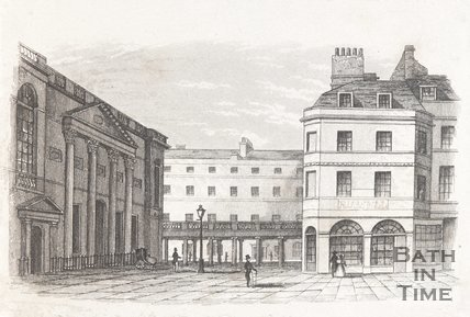 Pump Room and Colonnade, Bath, c.1840?