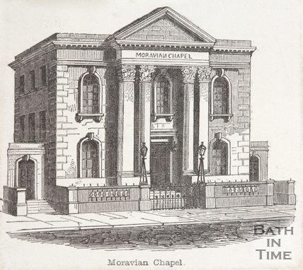 Moravian Chapel, Charlotte Street, Bath, 1850