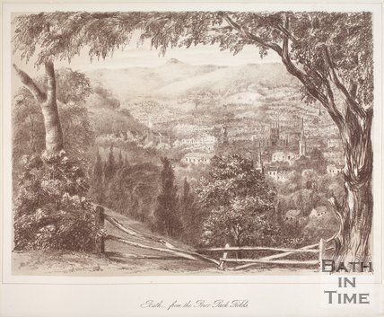 Bath, from Prior Park Fields, 1881