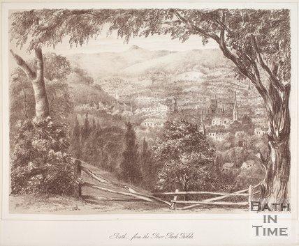 Bath, from Prior Park Fields, 1881