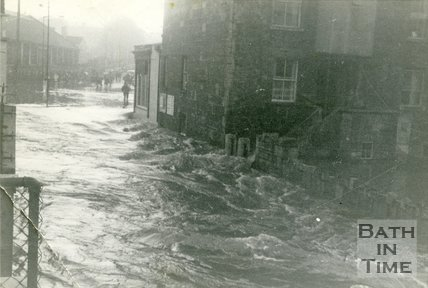 Floods on the Lower Bristol Road, Bath, Dec 4th 1960