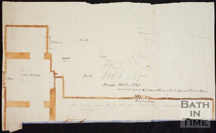 Plan of the cellars at Bath Abbey, October 6 1865