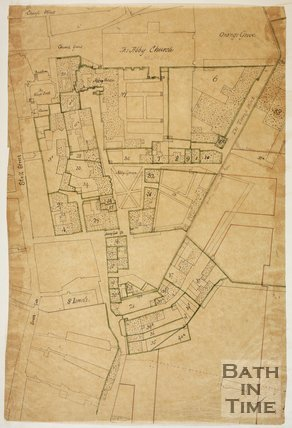 c.1600s? Tracing of a map of the City of Bath from the seventeenth century?