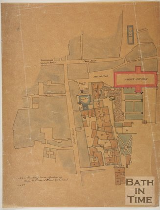 c.1750? Tracing of a plan of the City of Bath