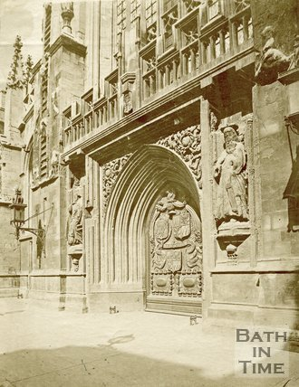 The West Door of Bath Abbey, c.1872