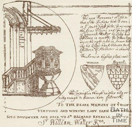 The pulpit at Bath Abbey, c.1684
