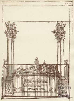 Bishop Montague's memorial, Bath Abbey, c.1684