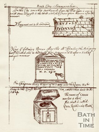 Relics found in the City wall of Bath, c.1684