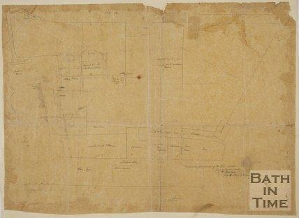 Plan of Bath in the vicinity of Bath Abbey 1865