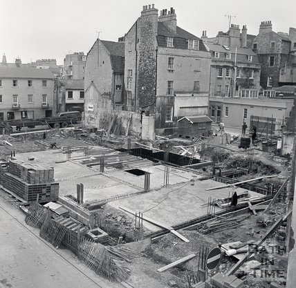 The construction of Trimbridge House, Trim Street, 1970