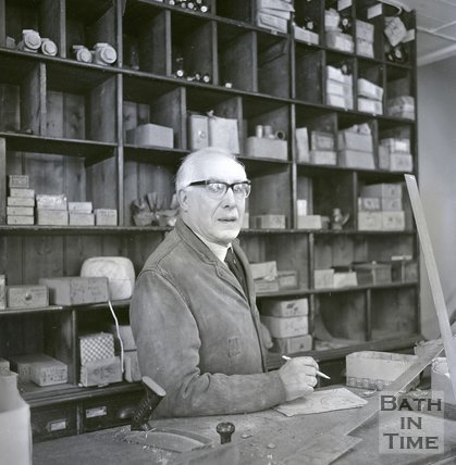 A member of staff at Bowlers, Corn Street 23 March 1970