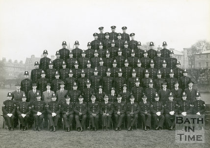 Bath City Police Group Portrait, 1947