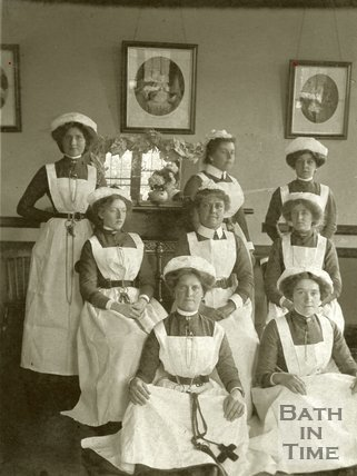 Royal Baths Staff at Christmas, 1917