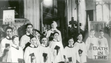 All Saints, Weston Choir Bath, c.1950s?