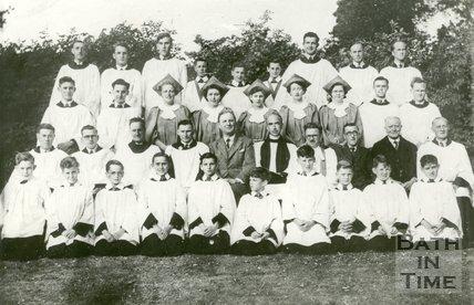 All Saints, Weston Choir Bath c1951