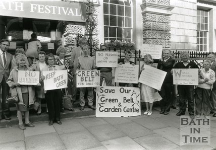 Widcombe Residents in Protest Over Proposed Development of Green Belt, Bath - 1989