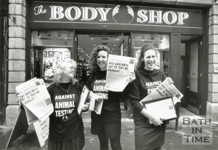Demonstration of Protest Against the Testing of Make-up on Animals - Bath, 1990
