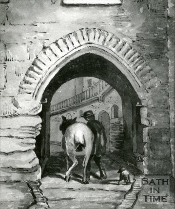 East Gate Exterior, Bath by H.V. Lansdown, 1855