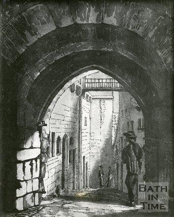 East Gate Exterior, Bath by H.V. Lansdown, 1855