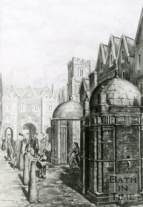 The North Gate, Bath from original drawing by R. W. Wright