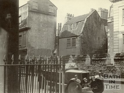 City Wall, Bath, opposite Mineral Water Hospital Photo October, 1922
