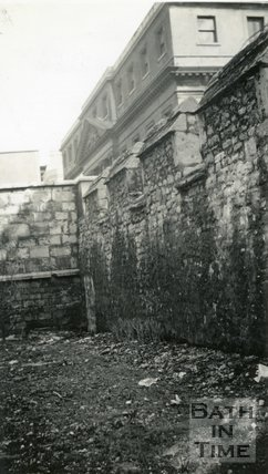 City Walls, Bath, Opposite Mineral Water Hospital, Upper Borough Walls, c.1950?