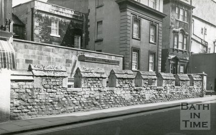 Medieval City Walls, Victorian Rebuilt Section, Upper Borough Walls, Bath, c.1930s