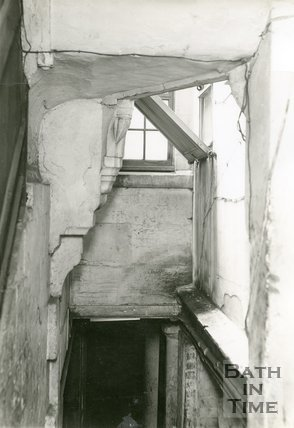 Inside St. Michael's Medieval Rectory now part of Bethel, Walcot Street, Bath, c.1936