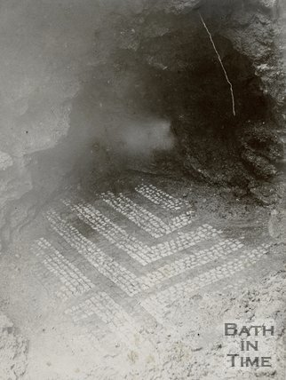 Roman Pavement in Bath, by Mineral Water Hospital, exposed in 1884
