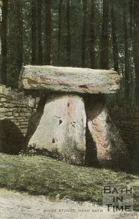 Three Shire Stones on Bannerdown, erected in 1859. North East of Batheaston, Bath, c.1910