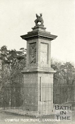 Grenville Monument, Lansdown, Bath, c.1912
