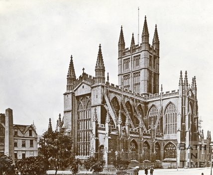 Bath Abbey from Orange Grove, c.1880s