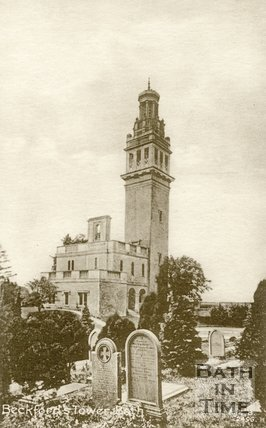 Beckford's Tower with Lansdown Cemetery, Bath, c.1920s