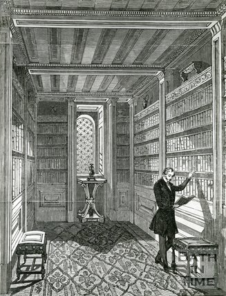 The Etruscan Library Interior, 1st Floor, Beckford's Tower, Bath, c.1830s