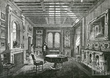 Beckford's Tower, Bath, Interior: The Crimson Drawing Room, c.1830s